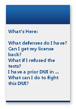 Fight a DUI in Pennsylvania